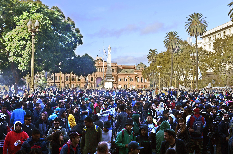 Más de 200.000 personas marcharon por la regulación del cultivo y uso del cannabis