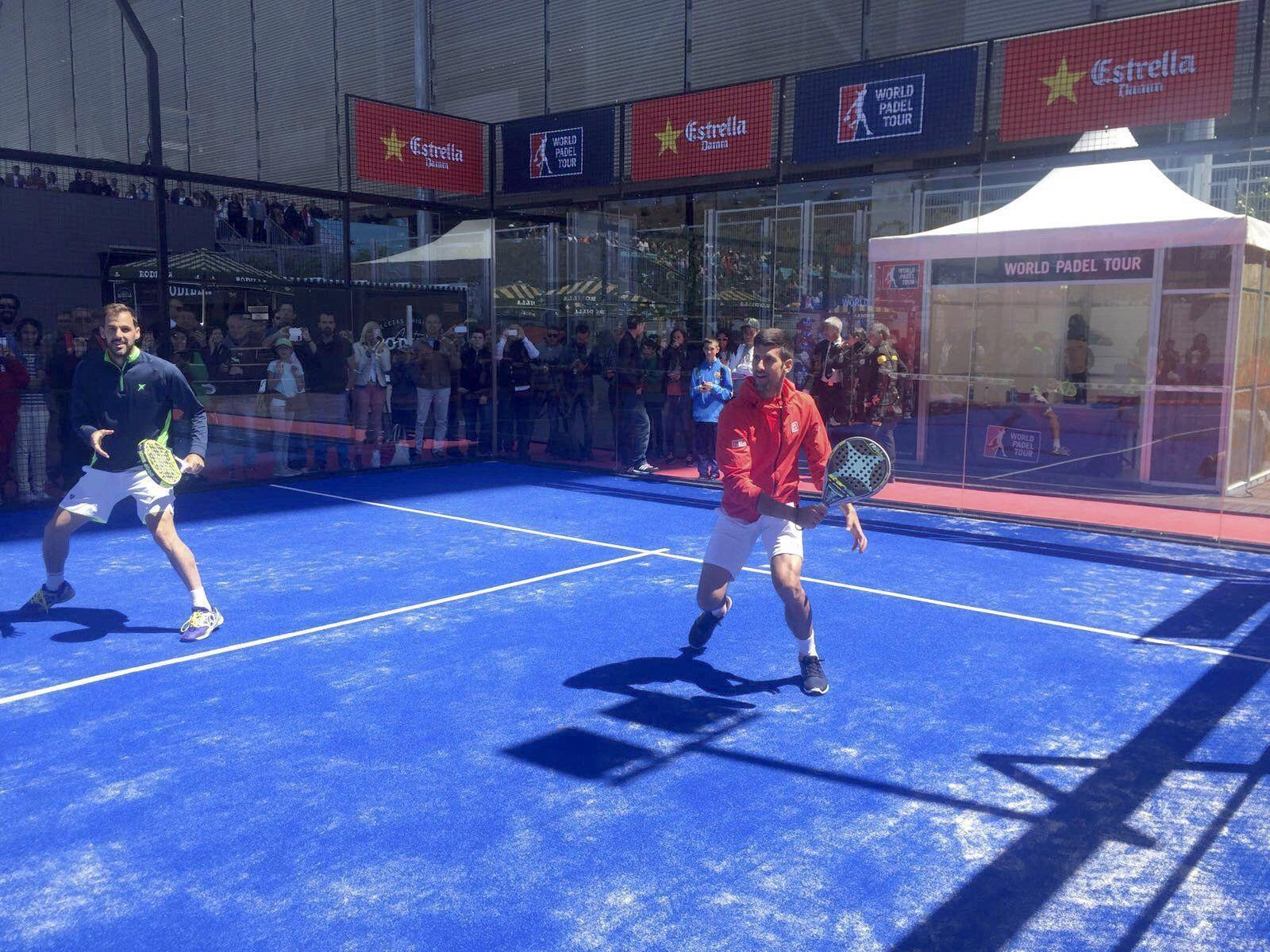 VIDEO: Djokovic jugó al pádel con un argentino ex número uno del mundo