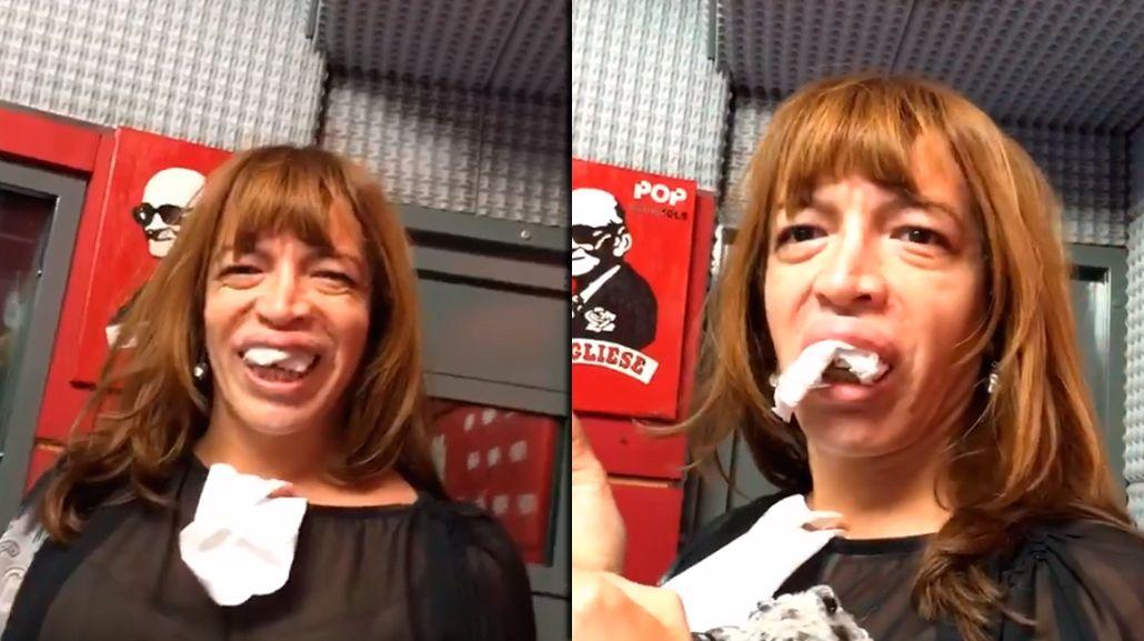 Lizy Tagliani presentó su nueva dentadura en Pop 101.5