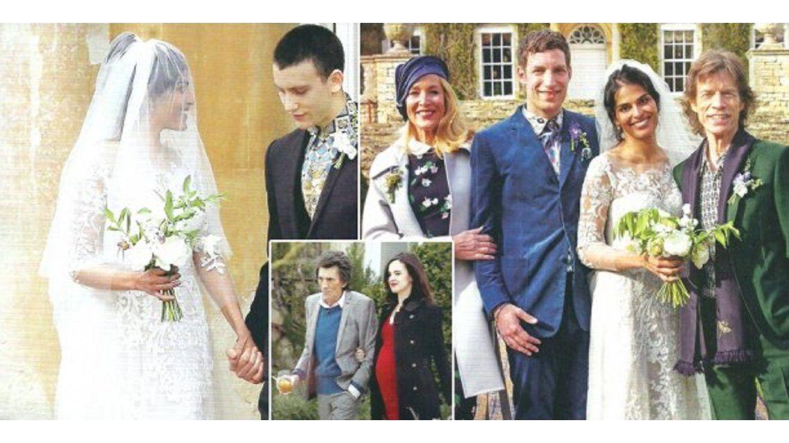 Las fotos de la boda del hijo de Mick Jagger