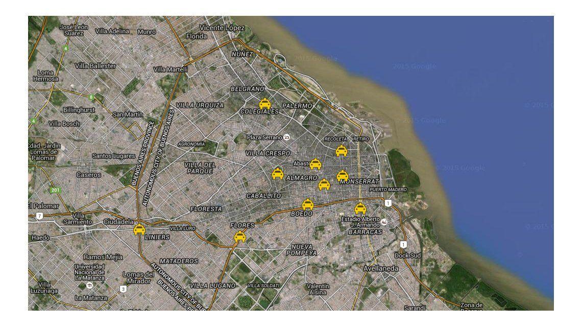 Taxistas porteños vuelven a sitiar la Ciudad con 10 cortes en contra de Uber