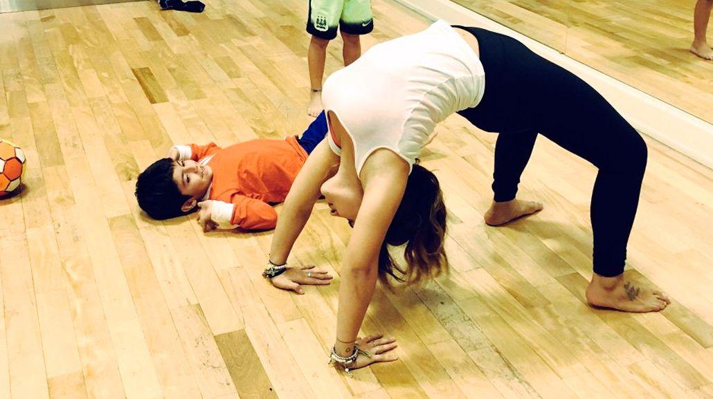 La elasticidad de Gianinna Maradona
