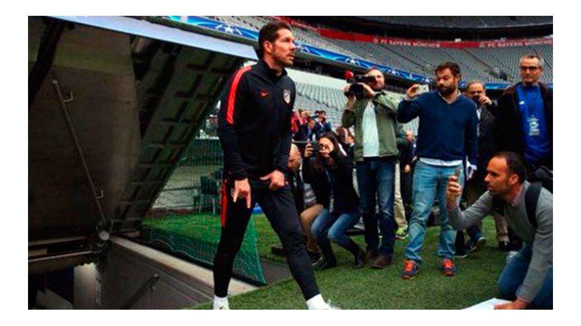 En la previa de la semifinal de la Champions League, el gesto obsceno del Cholo Simeone