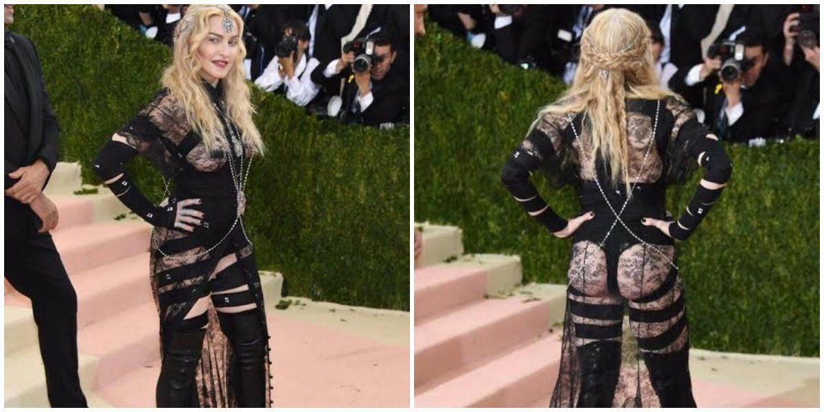 ¿Qué se puso? El polémico look de Madonna en la gala anual del MET