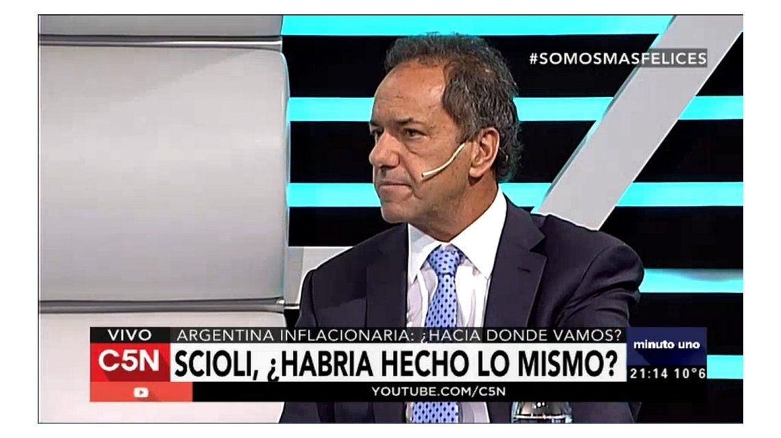 Scioli: Hablaban de campaña de miedo pero fue la campaña de la verdad