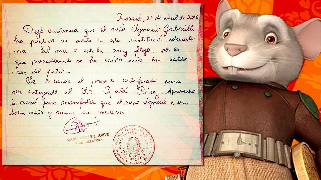 Tras la carta de la directora, el Ratón Pérez le llevó $400 al nene rosarino