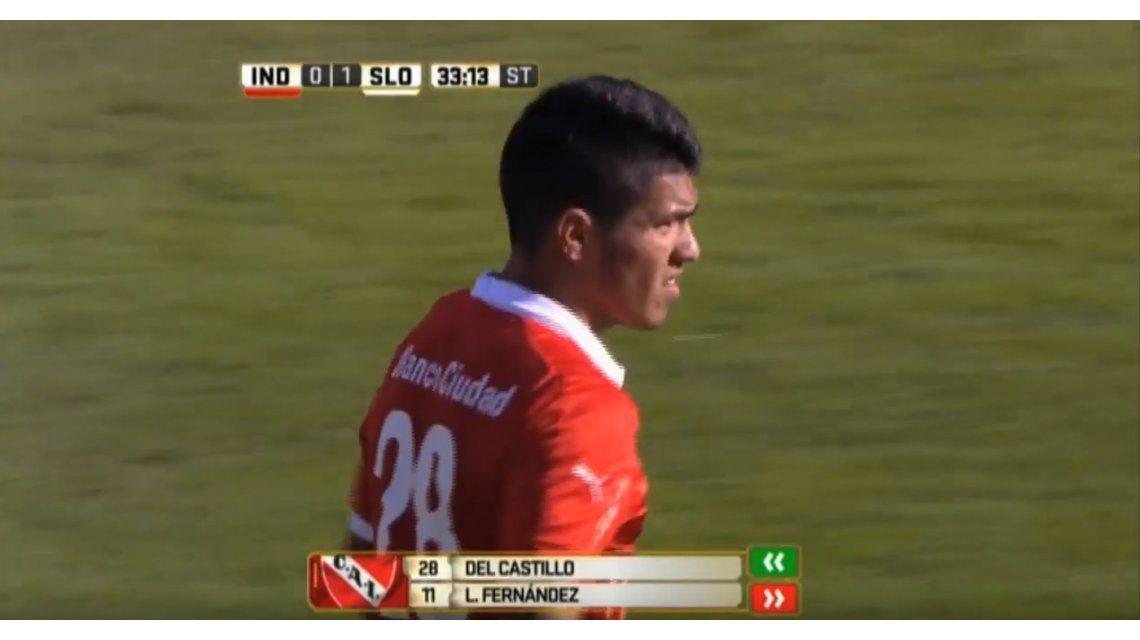 Con el pie izquierdo: debutó el hermano de Agüero en Independiente en la caída ante San Lorenzo