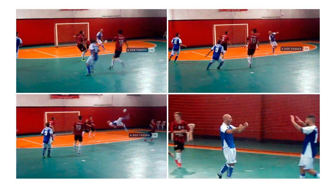 Hizo el gol del fin de semana en futsal y terminó con 10 puntos en la cabeza