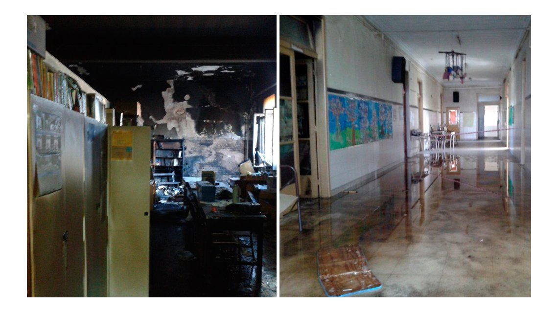 Otra escuela incendiada en la Provincia: ahora lo tocó a una de Berisso