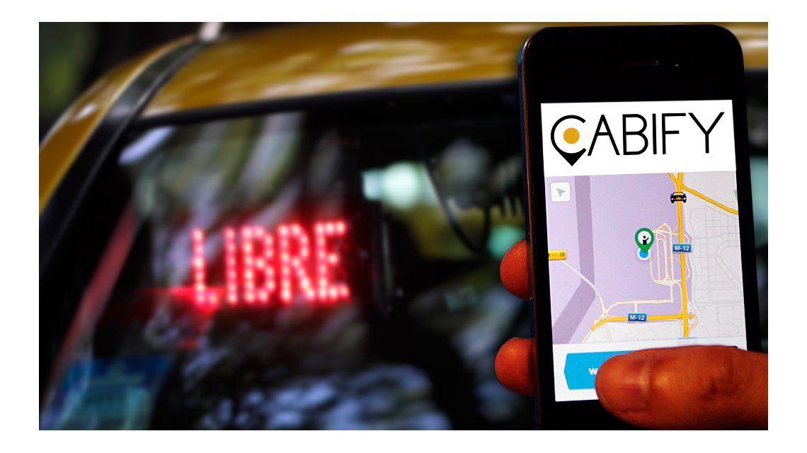 Taxistas porteños adelantaron su rechazo a Cabify, la app para solicitar autos con chofer