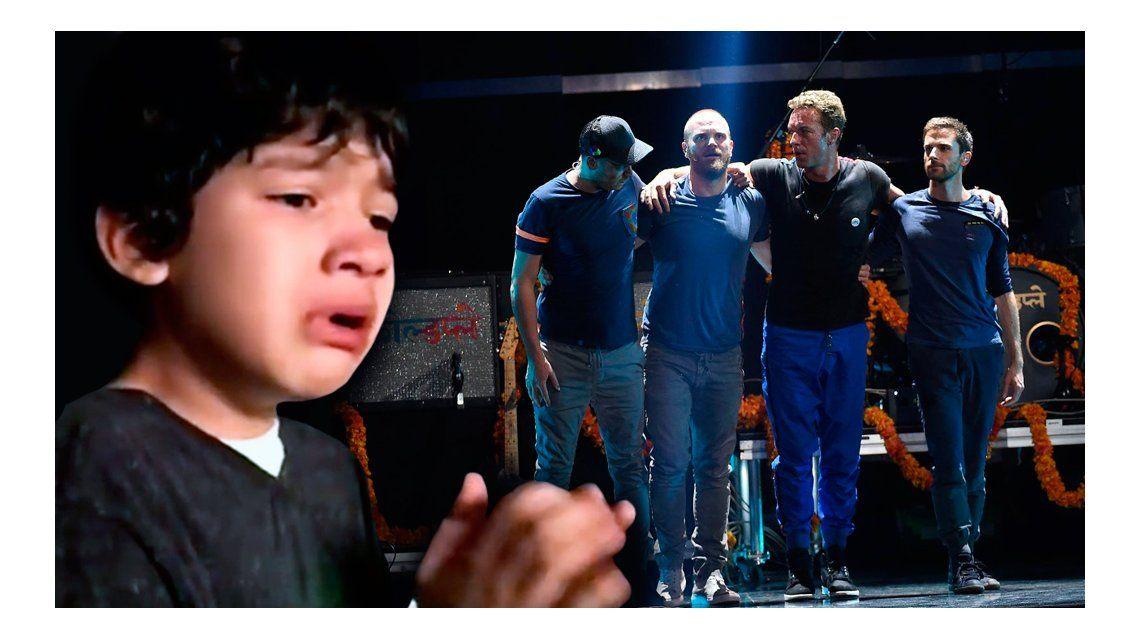 Un nene con autismo conmocionó a Coldplay: el mensaje de la banda