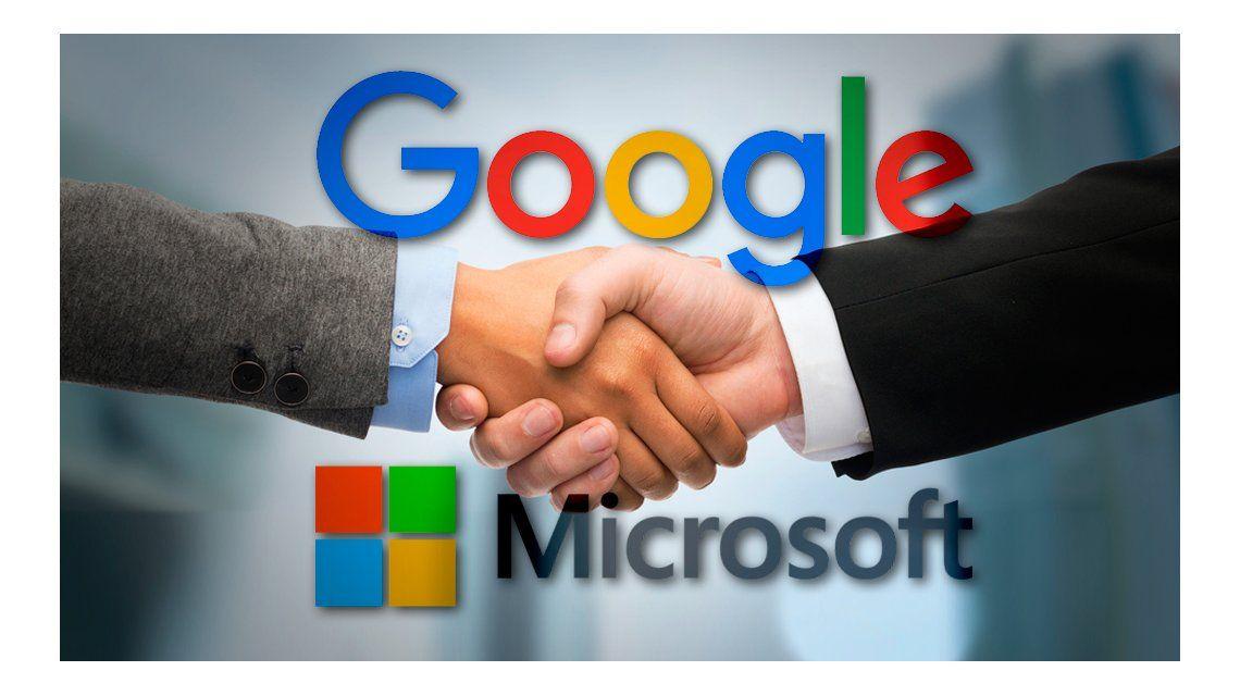 Google y Microsoft se comprometen a no demandarse
