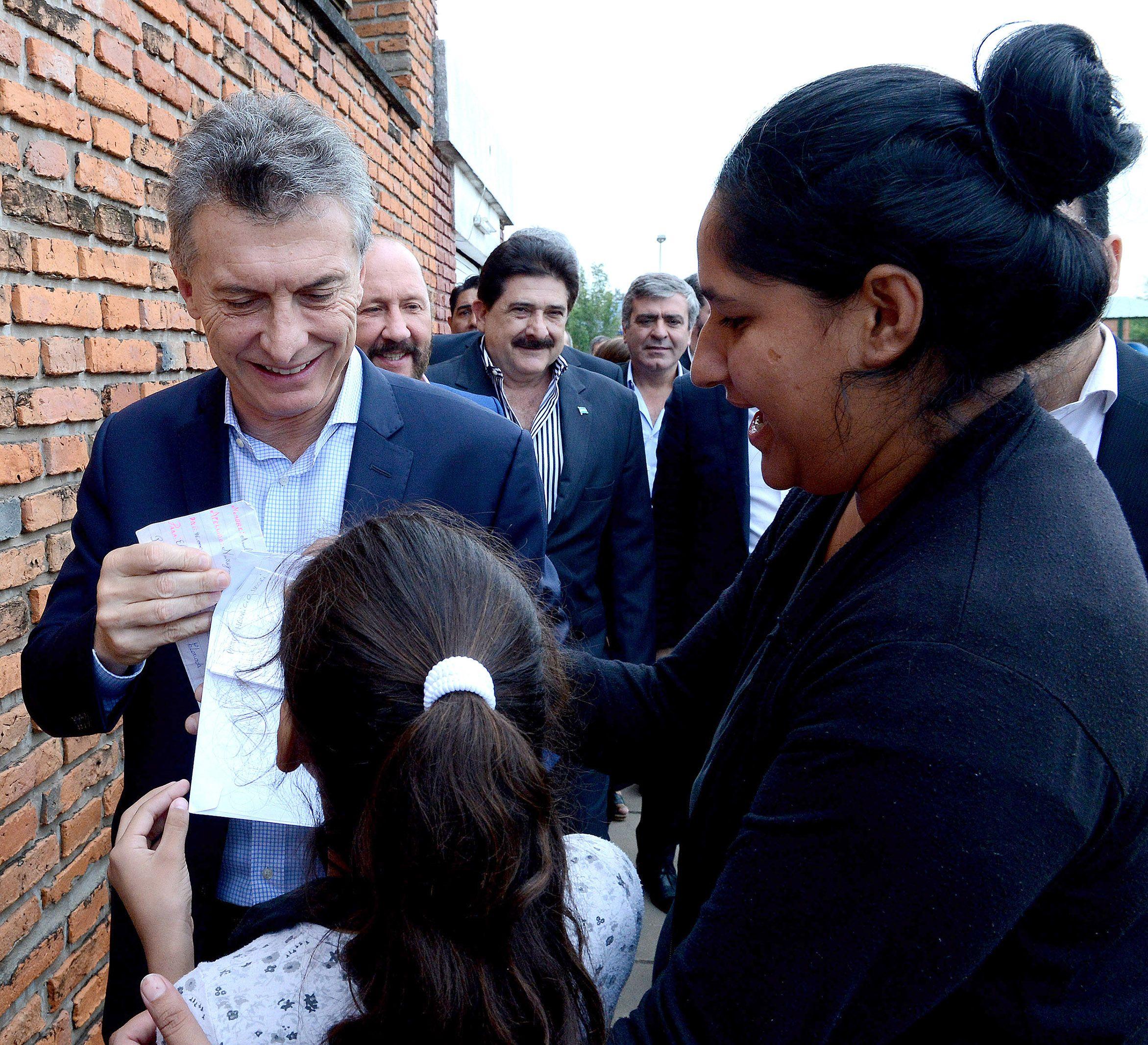 Macri se comprometió a acompañar a quienes más necesitan del Estado