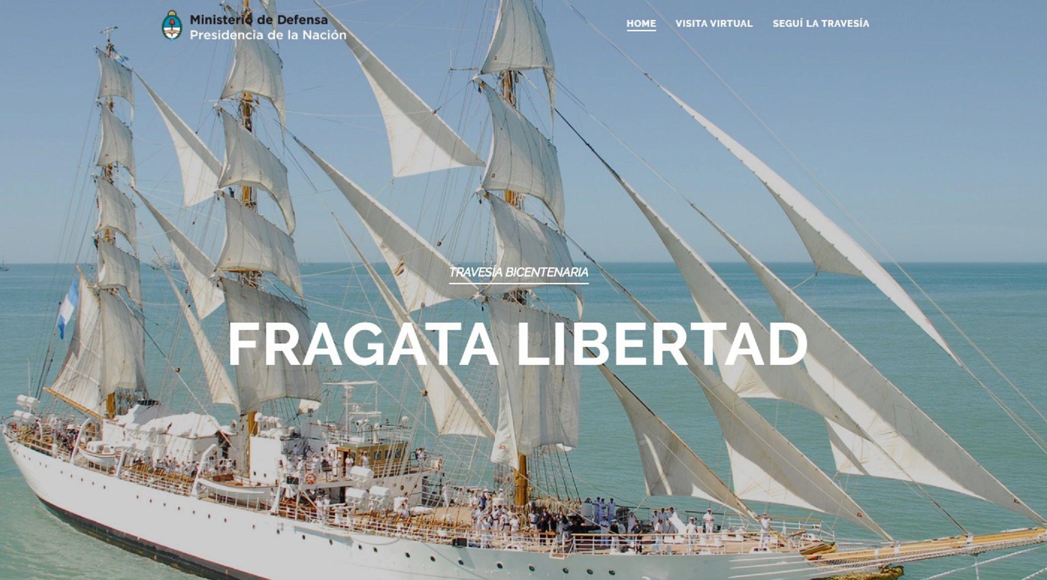 Lanzan un sitio web para seguir la travesía de La Fragata Libertad