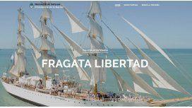 Lanzan sitio web para seguir a la Fragata Libertad