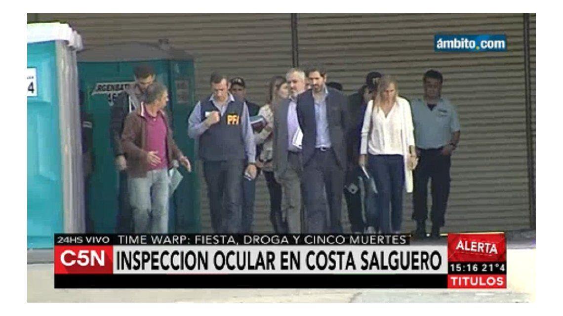 Inspección ocular en Costa Salguero: el juez recorrió el predio de la tragedia