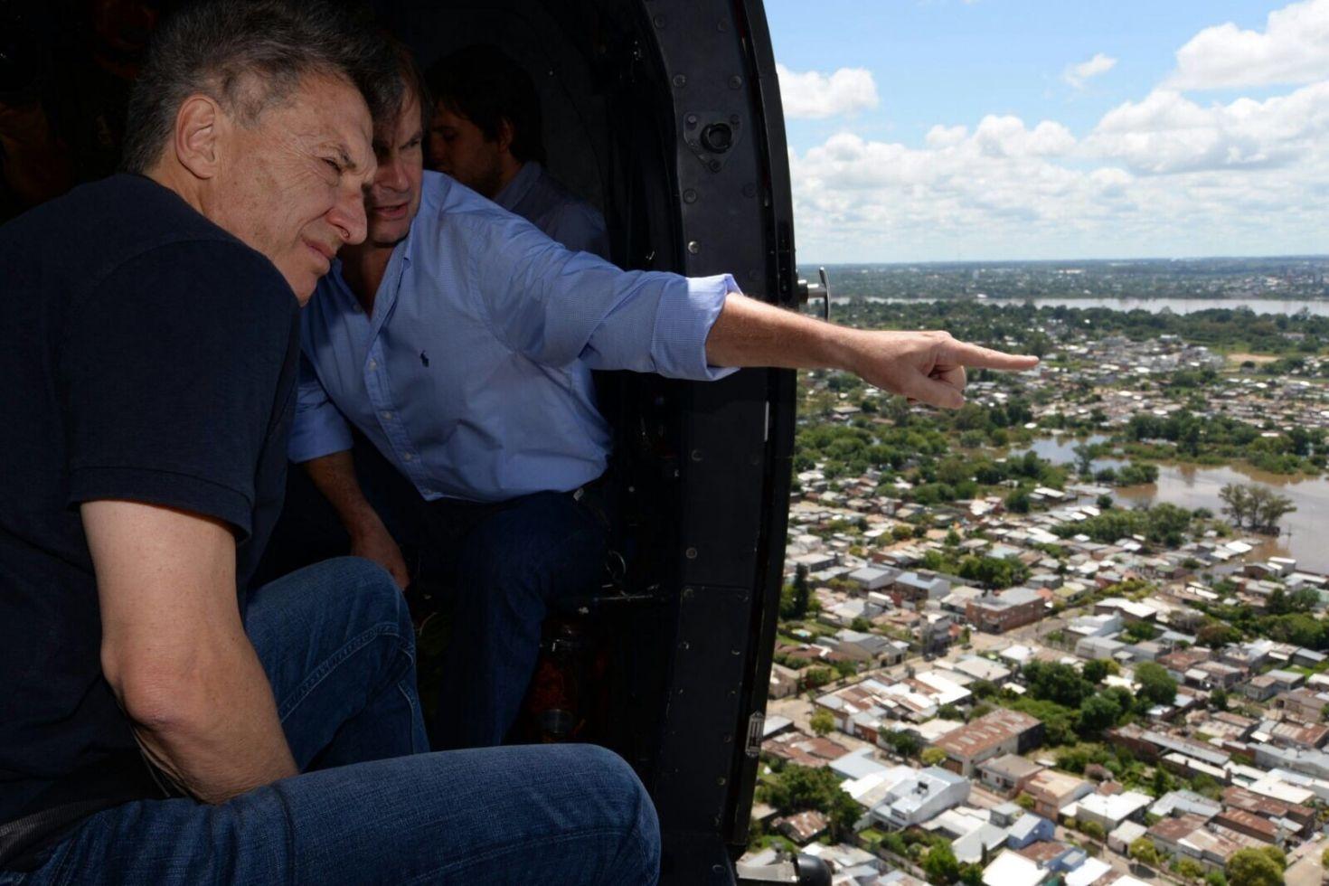 Macri sobrevolará el centro santafesino afectado por las inundaciones