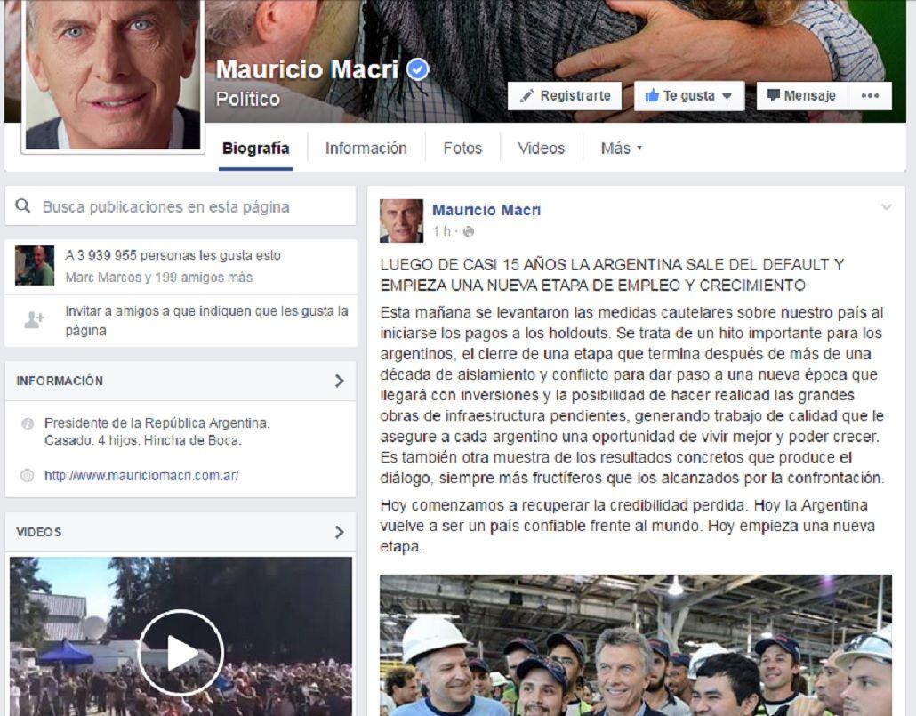 Macri celebró la salida del default: Empieza una etapa de empleo y crecimiento