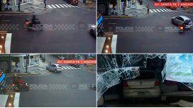 VIDEO: Así fue el choque en el que un auto terminó adentro de una colchonería