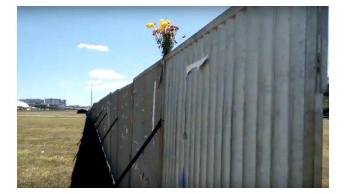 Colocan un muro en Brasil ante la votación que definirá el futuro de Dilma Rousseff
