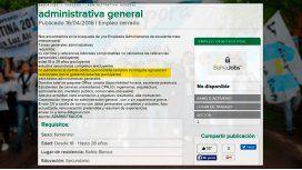 Insólita oferta laboral: Excluyente no ser de La Cámpora o peronista