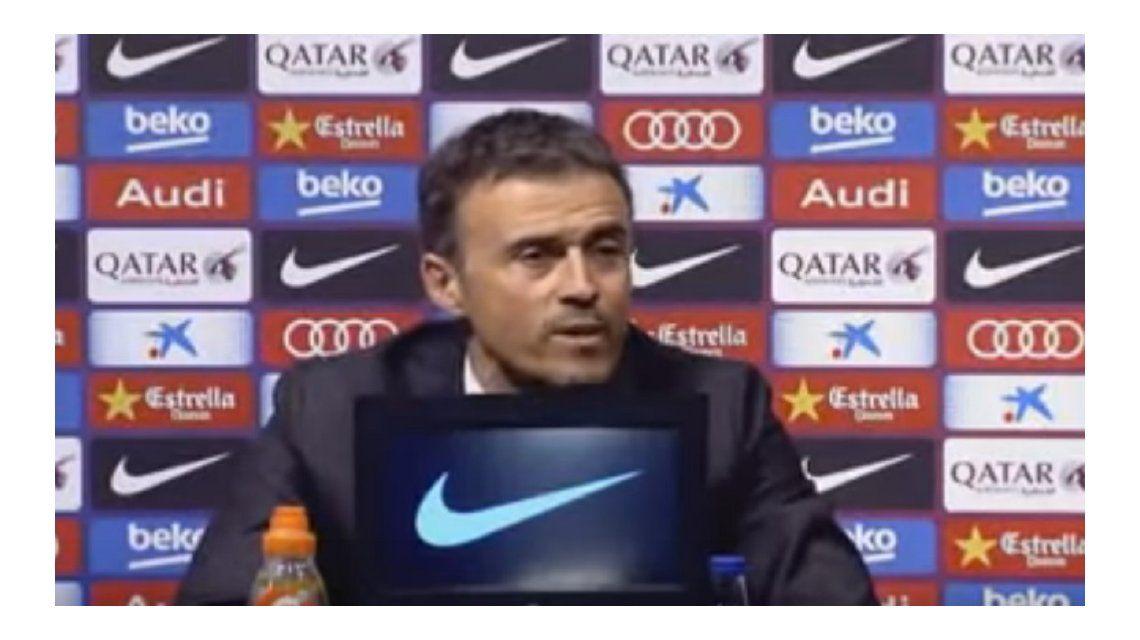El DT del Barcelona le faltó el respeto a un periodista de apellido Malo