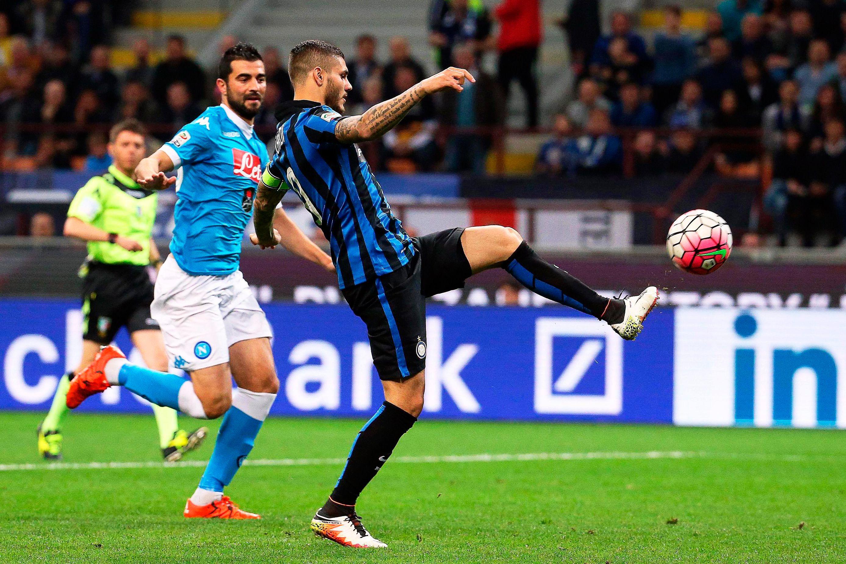 Con un gol de Icardi, Inter venció a Nápoli y lo dejó casi afuera de la pelea