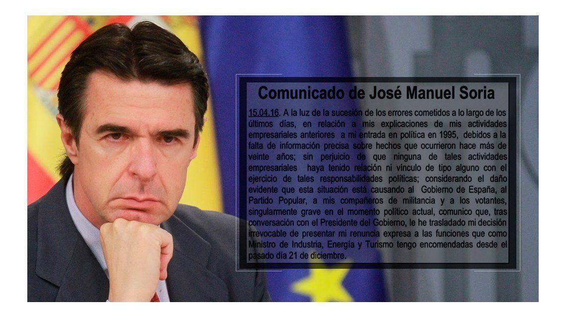 Intentá leerlo sin ahogarte: la carta de renuncia de un ministro de España