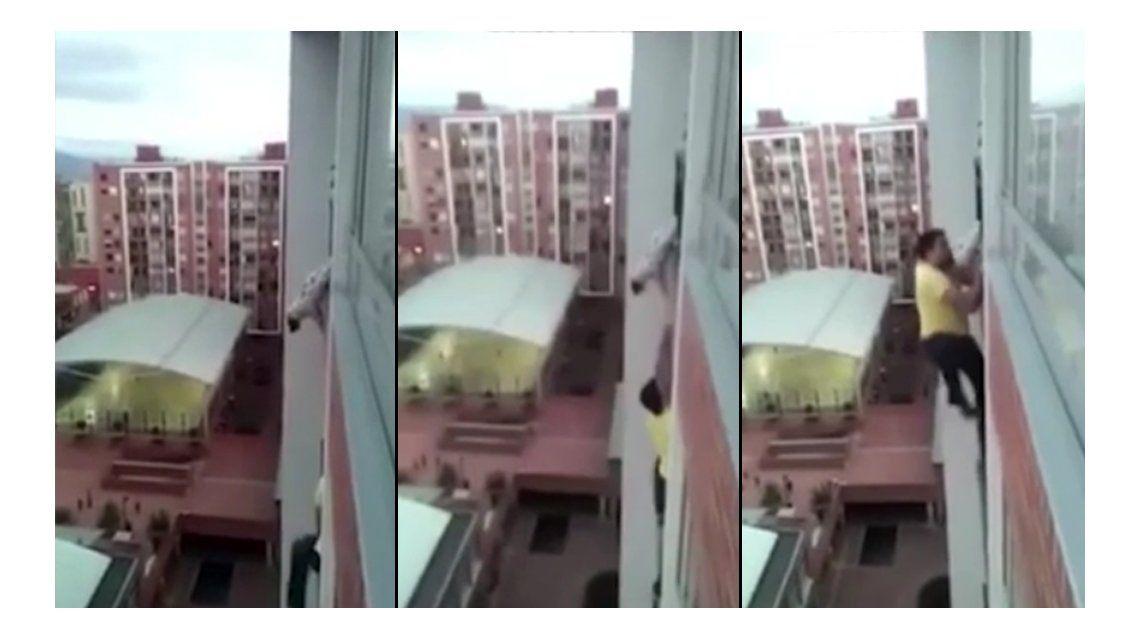 Un héroe: trepó por el balcón y salvó al perro del vecino