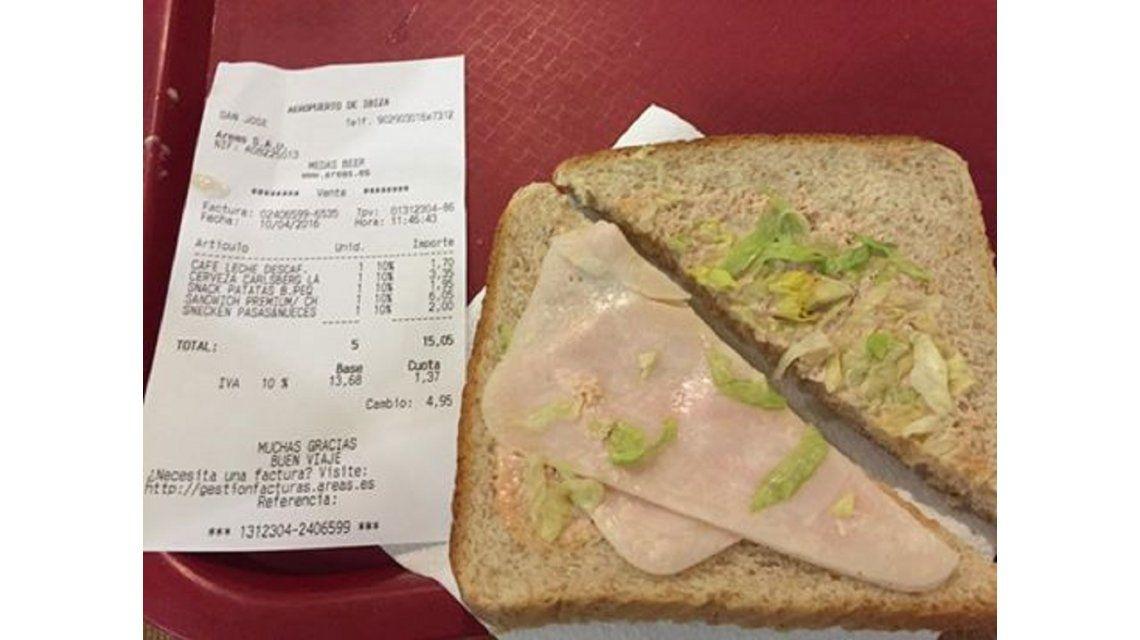 Guillermo Calabrese se indignó porque le cobraron $800 por tres sándwiches