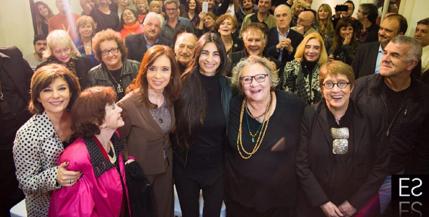 Cristina Kirchner se comunicó por teléfono con artistas y habló de la marcha sindical