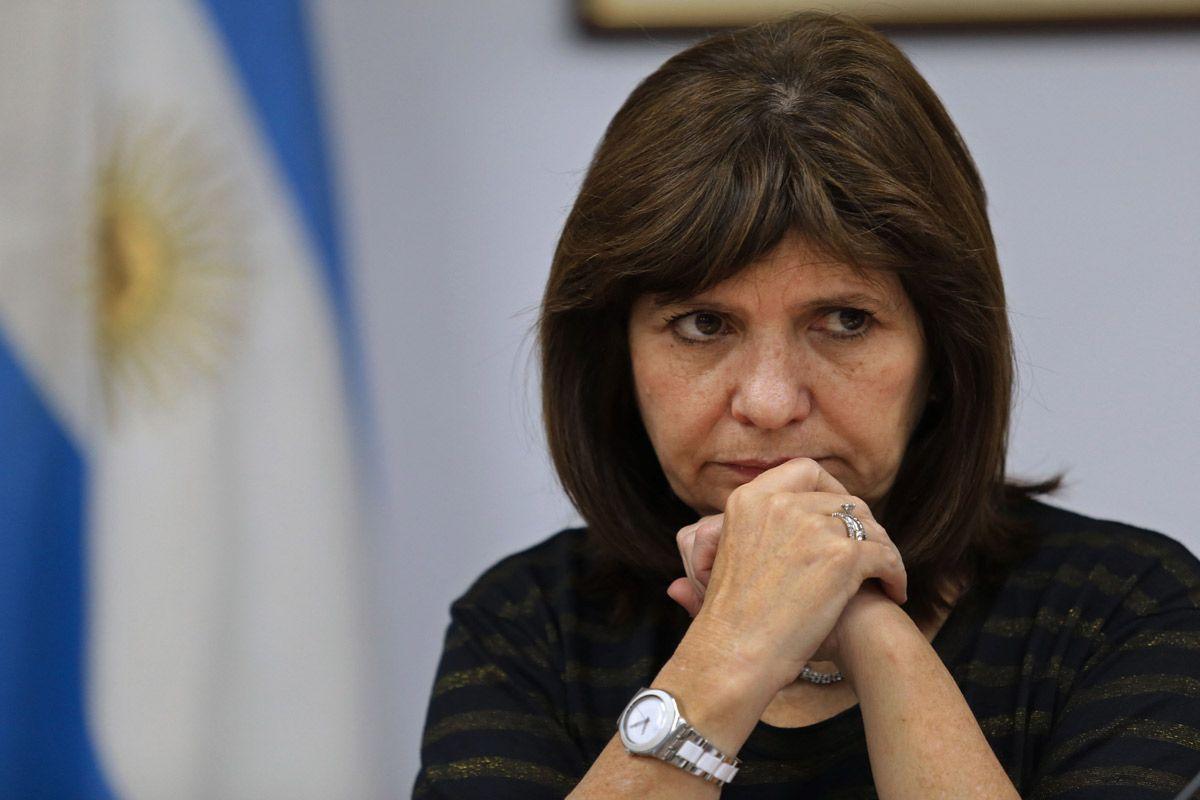 Patricia Bulrrich, ministra de Seguridad de la Nación<br>