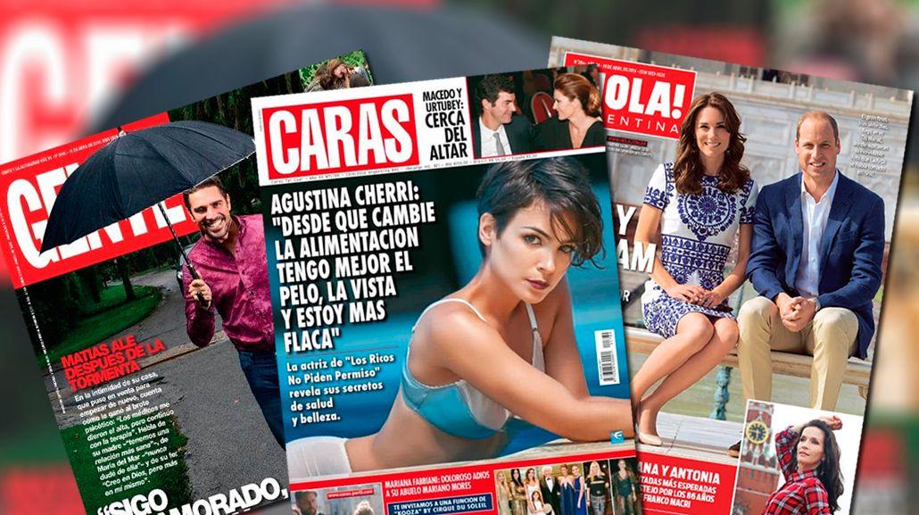 Mirá las tapas de revistas de la semana
