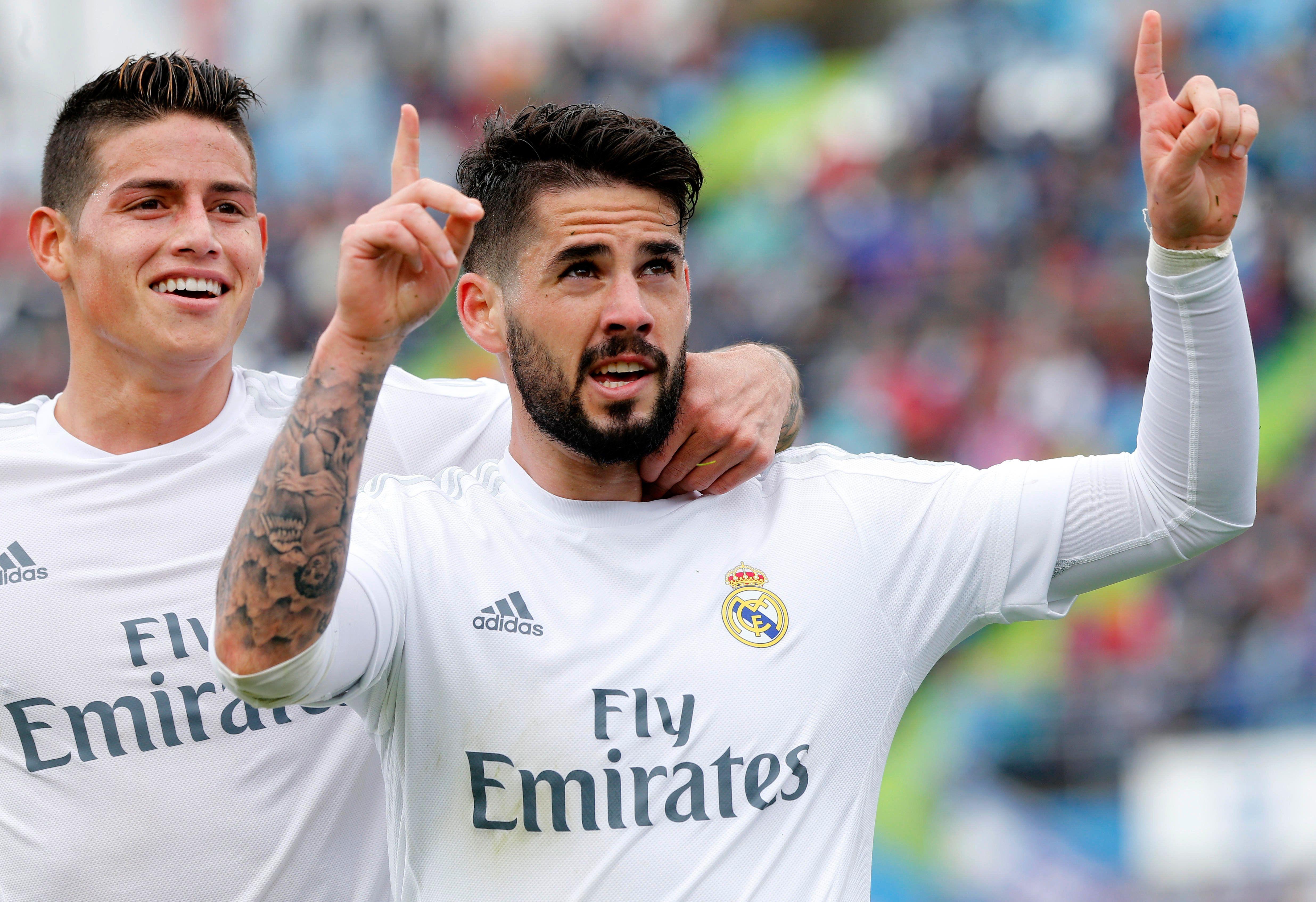 El Real Madrid goleó al Getafe y quedó a un punto del Barcelona