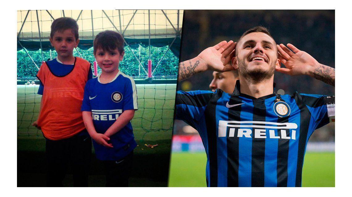 Tras los pasos de Icardi: el hijo de Wanda Nara debutó en el Inter
