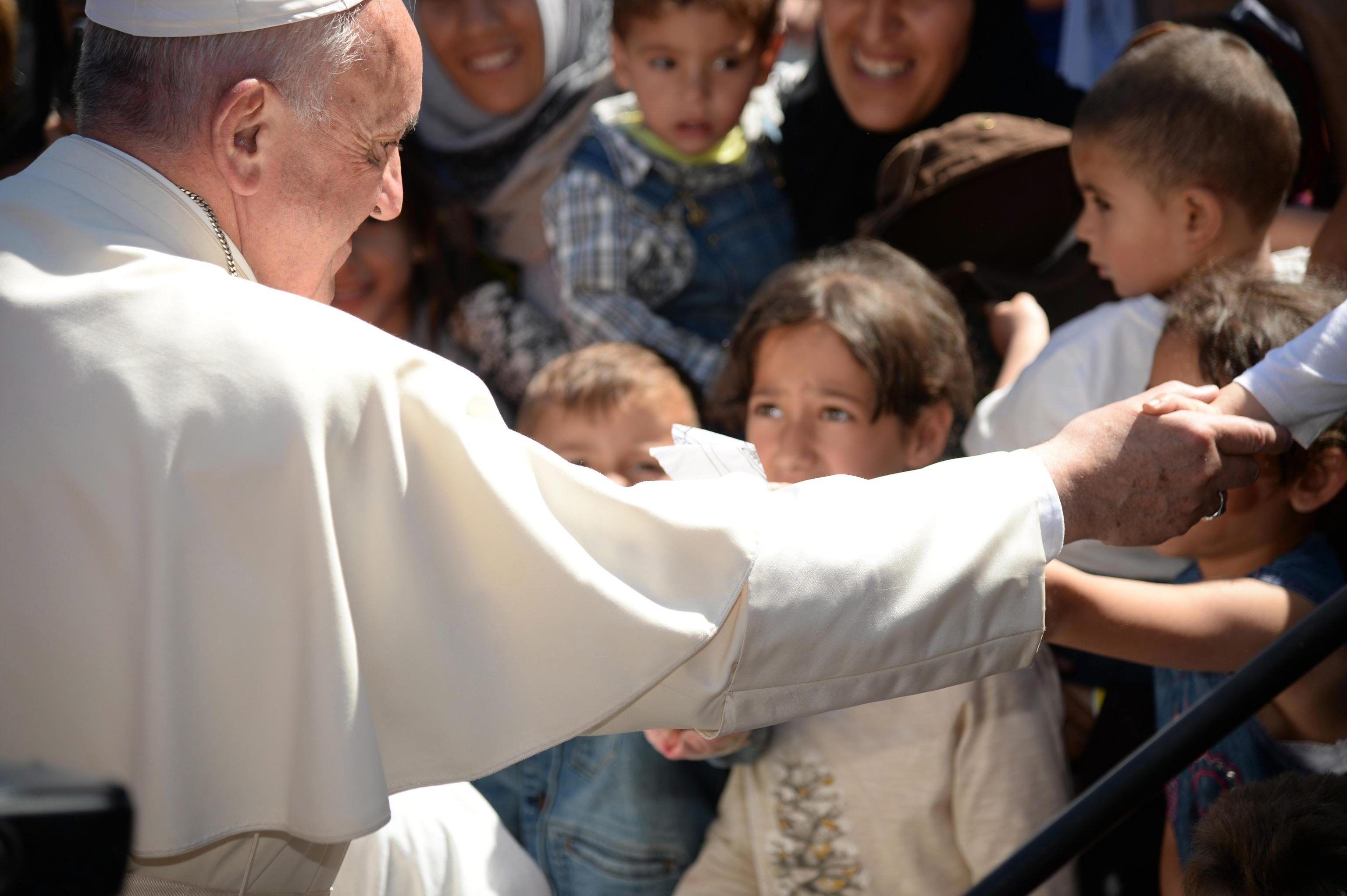 El Papa pidió al mundo valentía para afrontar la crisis migratoria