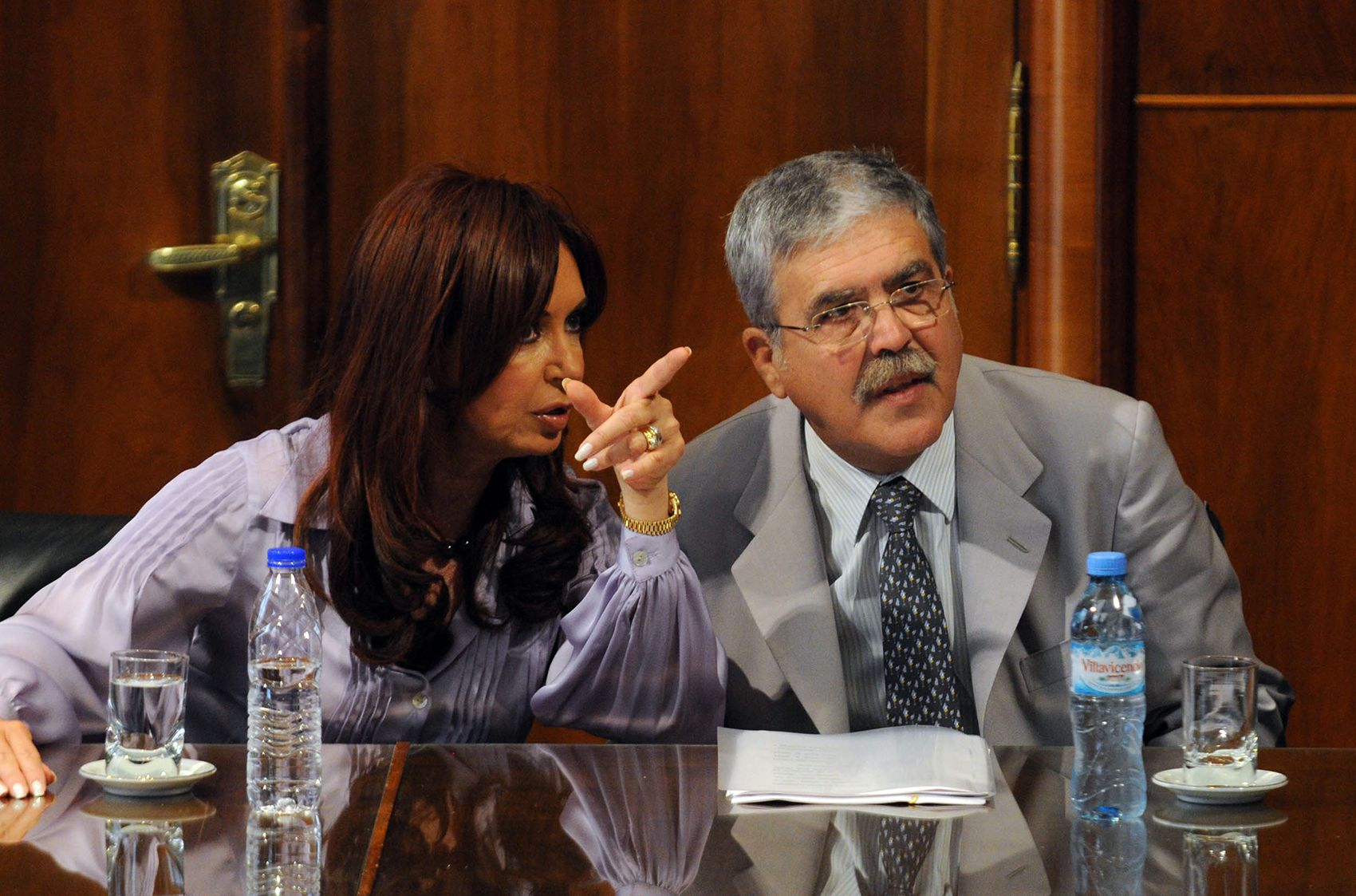 <p>Cristina Kirchner y Julio De Vido</p>