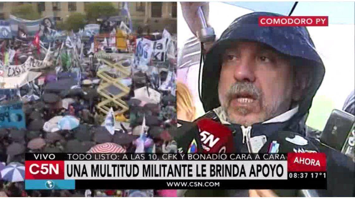 Aníbal F., en Comodoro Py: La gente quiere estar cerca de Cristina