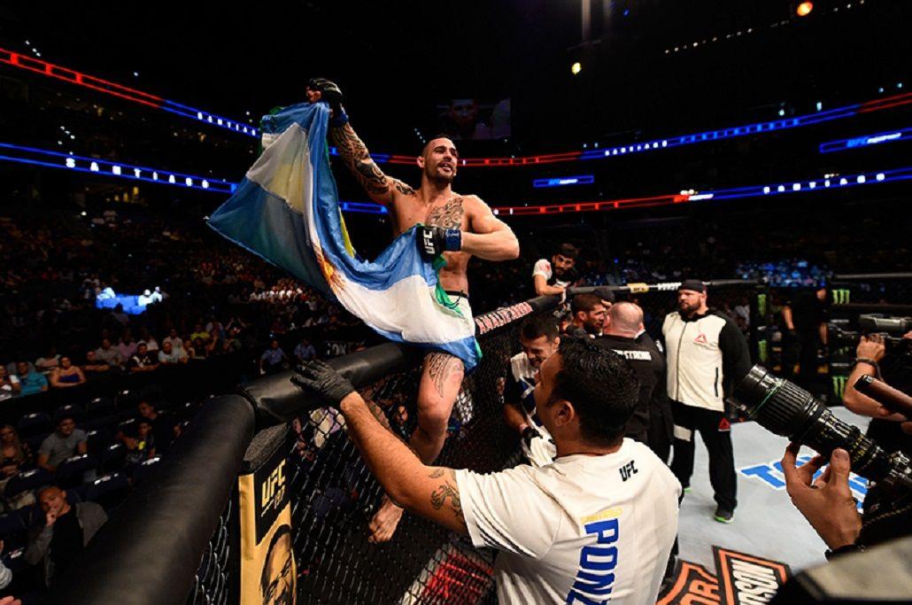 Orgullo argentino en UFC: Ponzinibbio ganó por nocaut en el primer round
