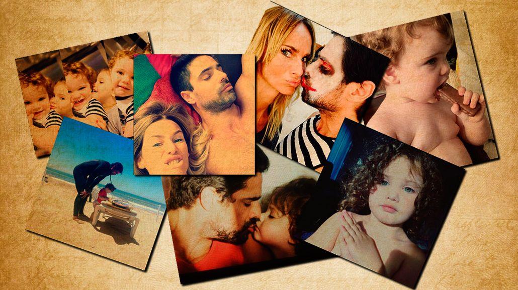 Las divertidas fotos de entrecasa de Luciano Castro y Sabrina Rojas con sus hijos