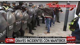 Enfrentamientos entre manteros y la Metropolitana