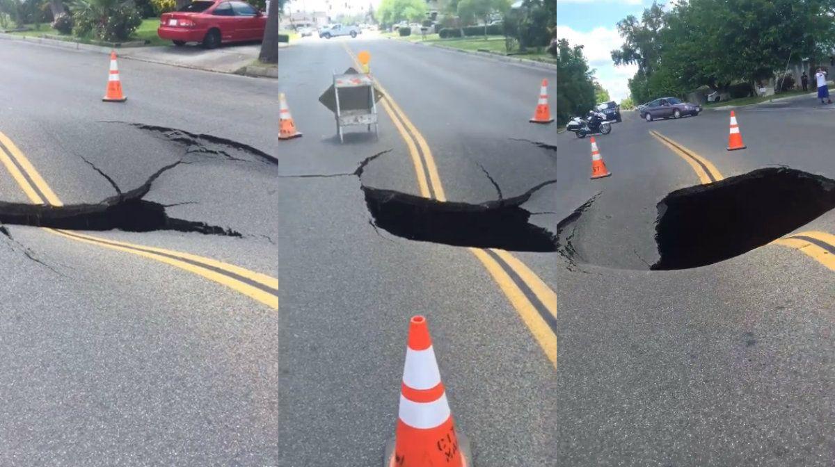 Video: así se derritió una calle en California