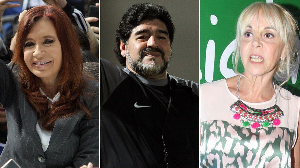 Maradona apoyó a Cristina y contraatacó a Claudia Villafañe
