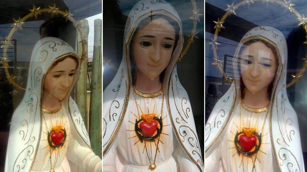 Conmoción en un jardín: apareció la imagen de una virgen que llora