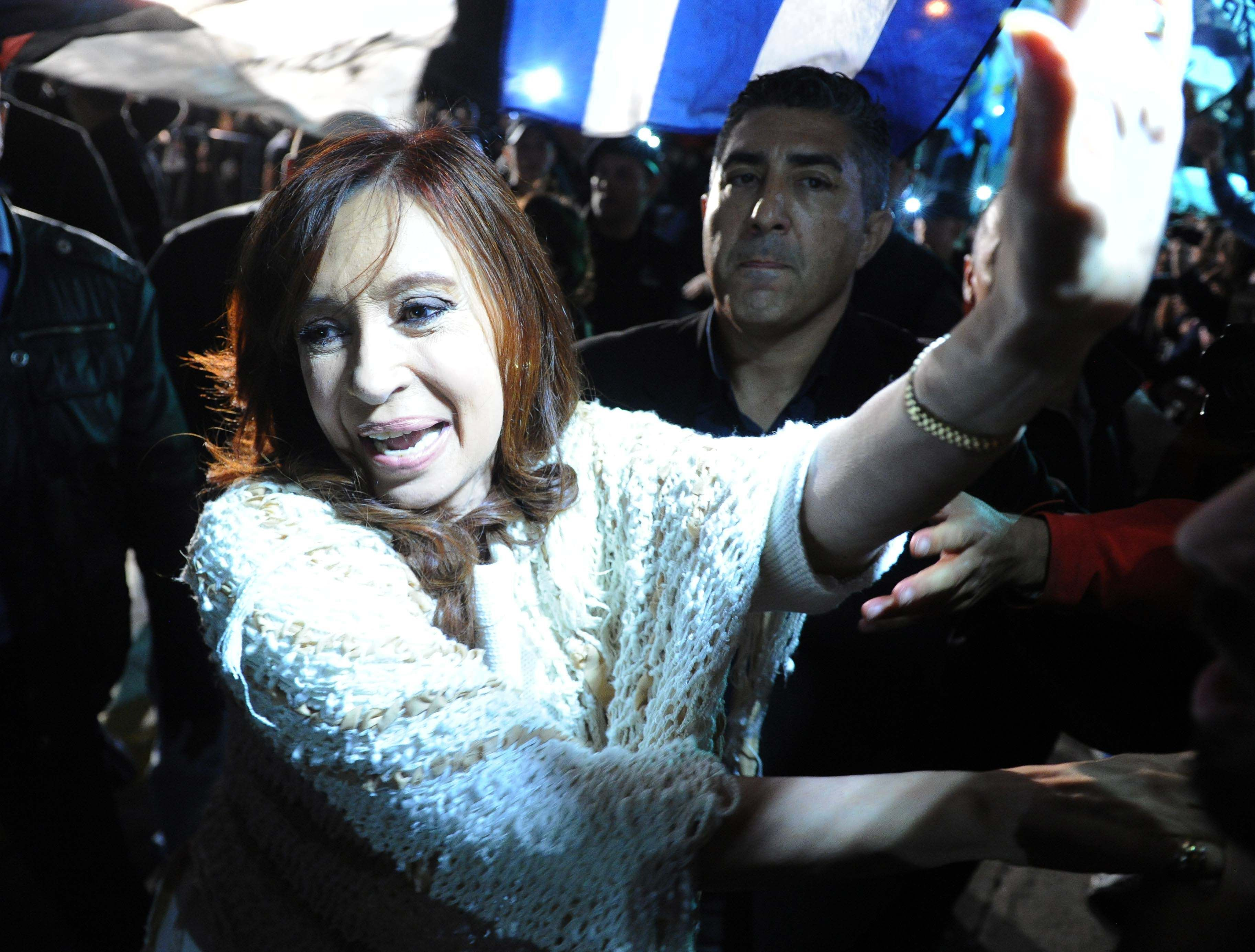 La llegada de Cristina Kirchner a Buenos Aires