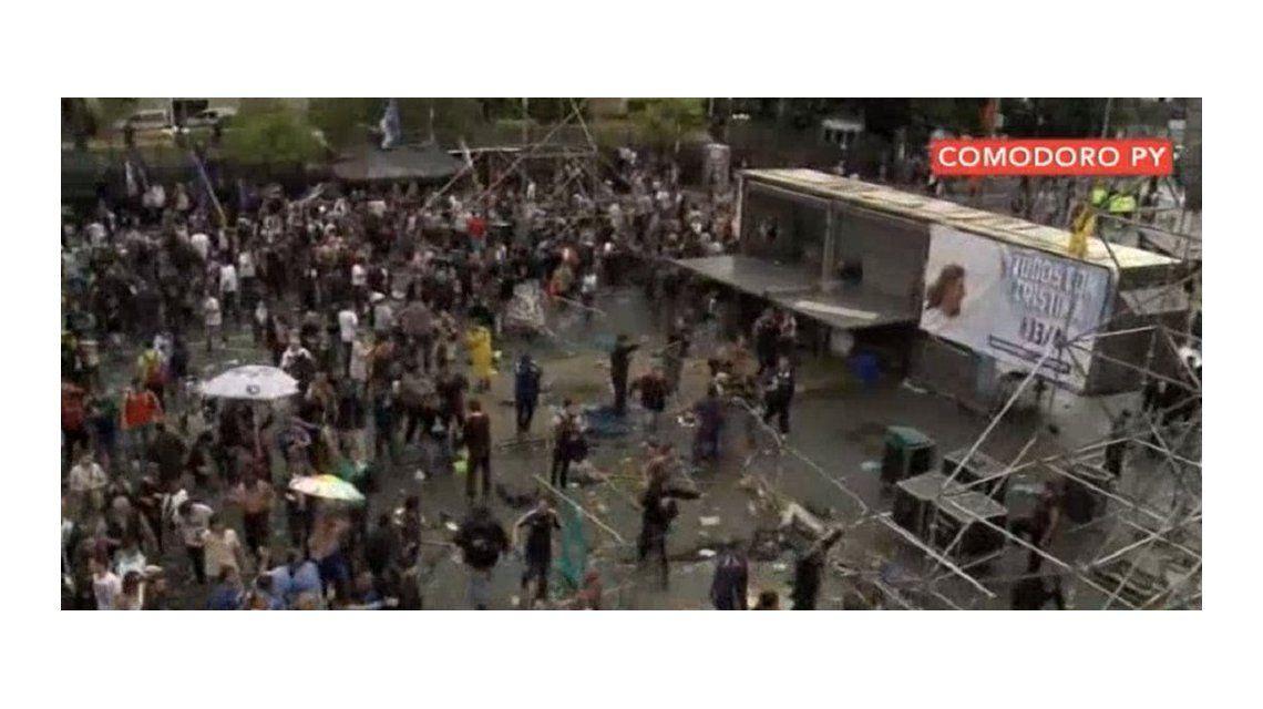 Incidentes entre militantes y la policía en Comodoro Py tras el discurso de CFK