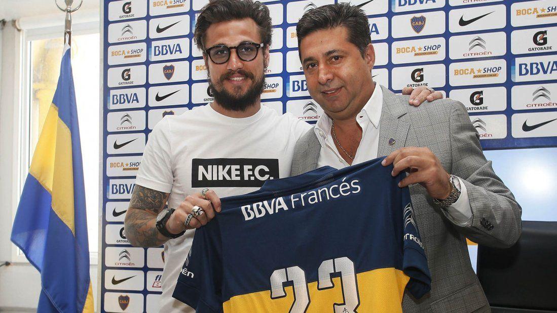 Angelici: La continuidad o no de Osvaldo la vamos a definir el lunes
