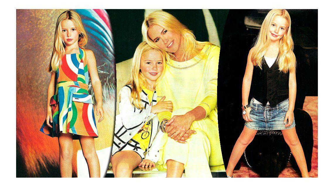 La hija de Valeria Mazza debutó como modelo a los 7 años: sus fotos