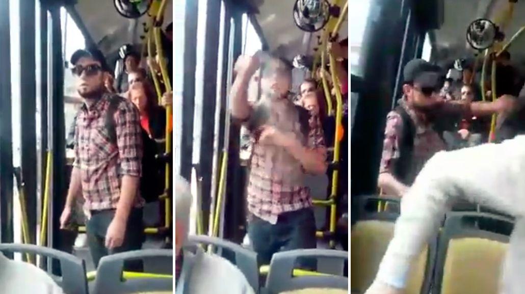 El Panadero del 34: lo acusaban de manosear chicas en el colectivo y se defendió con gas pimienta