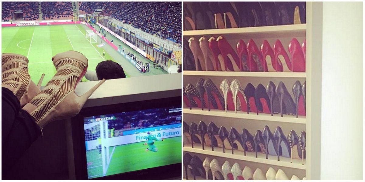 La colección de zapatos de Wanda Nara en fotos y números